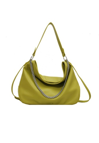 Lara green Women's PU Leather Zipper Hobo Bag - Green EFF67ACFC61238GS_1