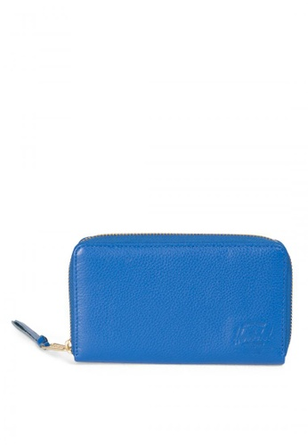Herschel blue Thomas Leather Wallet HE958AC0K9XBPH_1