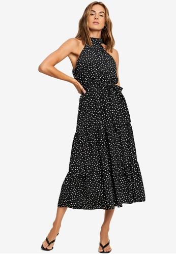 Tussah black Karlia Midi Dress C307DAA709796EGS_1