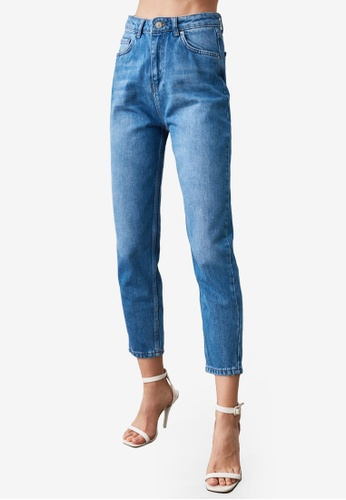 Trendyol blue Light Washed High Waist Mom Jeans B9792AA37C2F50GS_1