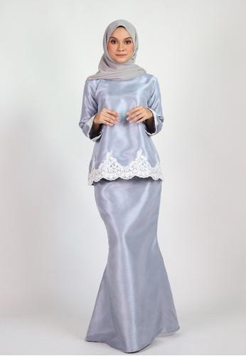 ESMA KURUNG KEDAH from Coudre Kuala Lumpur in Grey and Blue