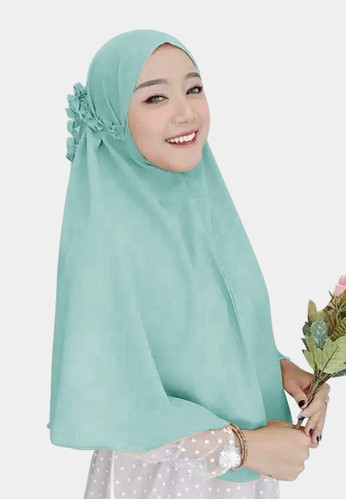 zelena blue Hijab Instan Daily Bergo Kanisa Tali Kriwil - Blue Wardah 53C64AA3DC4E37GS_1