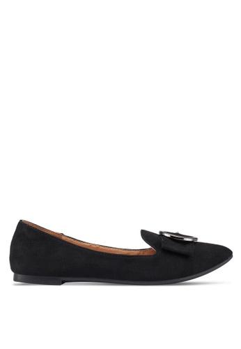 NOVENI black Buckle Ballerina Flats 2FA3CSH3E12ED8GS_1
