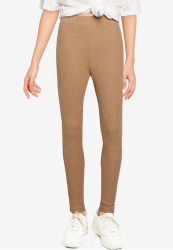 Noisy May beige Miray Knitted Leggings DFBBCAADD3D6EAGS_1