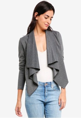ZALORA BASICS grey Waterfall Jacket A49BCAA0490314GS_1