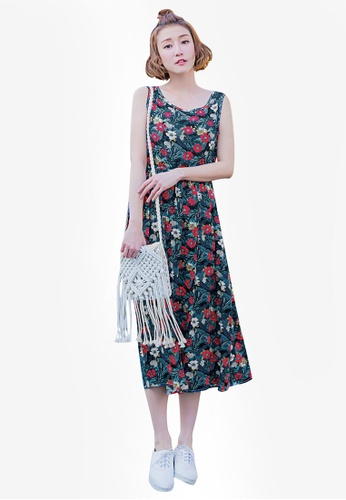 Tokichoi pink and multi Classic Rose Printed Midi Dress 6B56FAA072C550GS_1