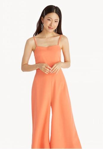 1ae519c4a3ce Buy Pomelo Cami Wide Leg Jumpsuit - Orange Online on ZALORA Singapore
