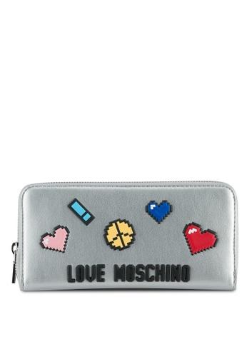 Love Moschino silver Portafogli Soft Wallet LO478AC0SEL0MY_1