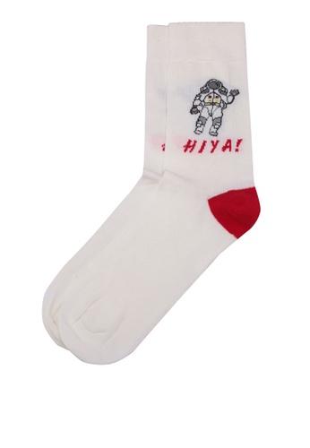 Topman white White Hiya Spaceman Socks 00026AA017DD29GS_1