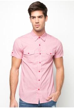 Short Sleeved Fine Checkered Shirt