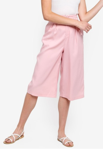 Basic Tailored Belted Culottes