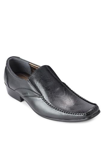 鱷魚壓紋方頭商務皮salon esprit 香港鞋, 鞋, 鞋