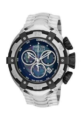 INVICTA black Invicta Bolt Men 52mm Case Silver Stainless Steel Strap Black Dial Quartz Watch 21344 w/ Cap IN968AC0FKMHSG_1
