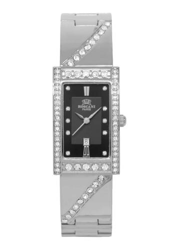 Roscani silver Roscani Rosemary B75 (Curved Crystal + Platinum Plating) Platinum Black Bracelet Women Watch E67A3ACC98B3D5GS_1