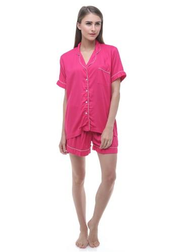 Madeleine's Fuschia Rayon Short Pajamas