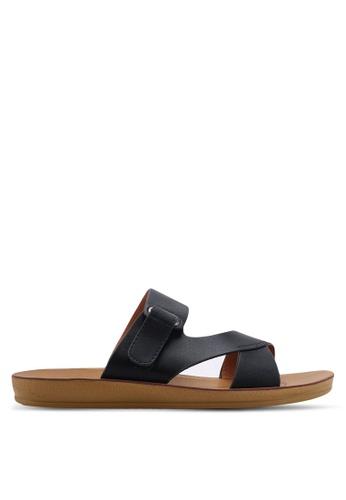 NOVENI 黑色 Flat Strappy Sandals 08420SH26BF8EEGS_1