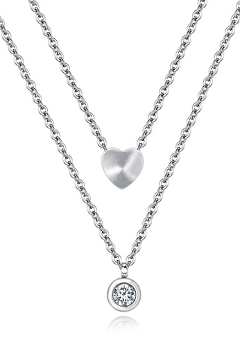 Trendyshop silver Double Layered Pendant Necklace - Silver 596D9ACD0E0AD8GS_1