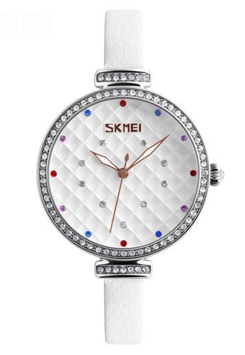 Digitec white Skmei - Jam Tangan Wanita - Silver - White Leather Strap - 9142-B 12B57AC9A47C60GS_1