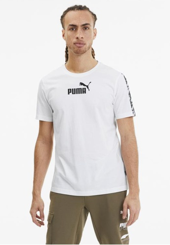 puma white Amplified Men's Tee 6AB9AAA78004C8GS_1