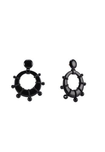SUGARFIX by BaubleBar black Funky Circle Drop Earrings 4BD32AC861BBAEGS_1