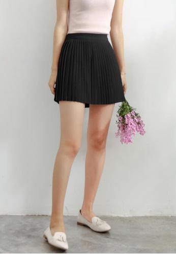 Shopsfashion black Mini Pleated Skirt in Black SH656AA61HSGSG_1