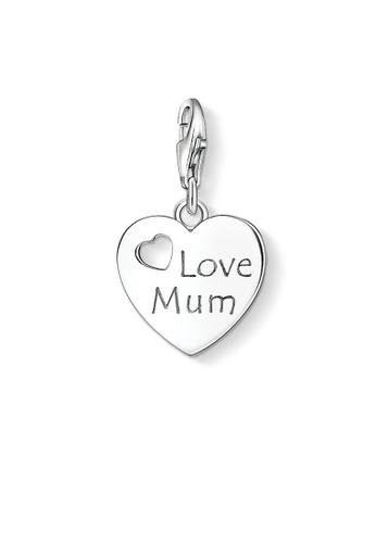 "THOMAS SABO silver Charm Pendant ""LOVE MUM"" 8FE1FAC0DC5346GS_1"