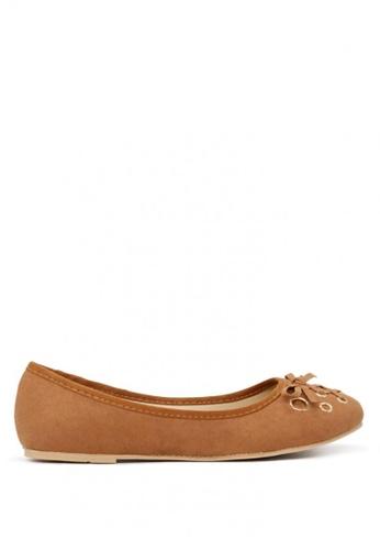 London Rag brown Ballerina Flats with Bow SH1701 AB6B8SH6135060GS_1