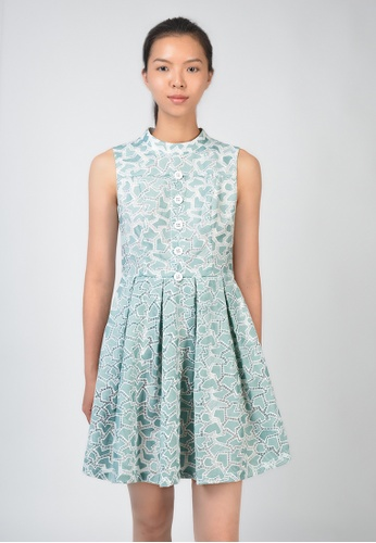 ac9466465d7e6 Buy LE BRODE Sleeveless Collared Dress