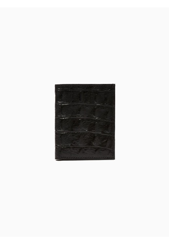 b087c443c0603 Shop Topman Crocodile Effect Leather Card Holder Online on ZALORA  Philippines
