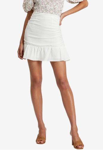 Sável white Aubree Mini Skirt 1A5B9AA6805C39GS_1