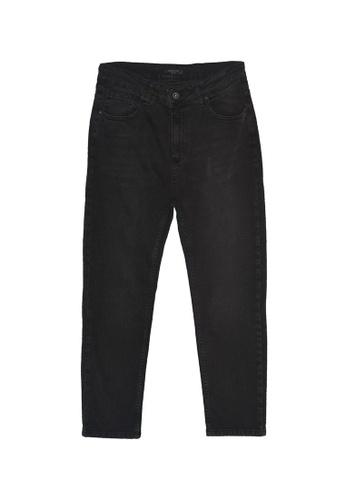 Trendyol black Slim Fit Cropped Jeans E2D72AA0C69CEBGS_1