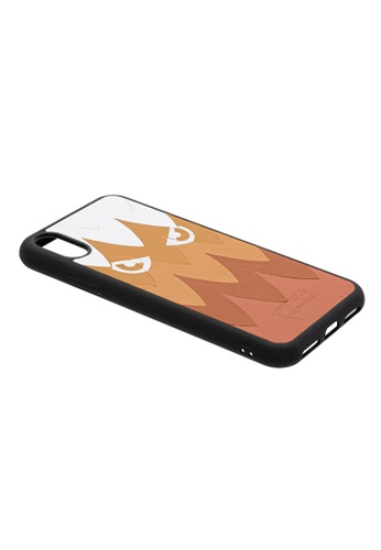 POROLUXE brown PHONE CASE FOR IPHONE X 2DB40AC301F051GS_1