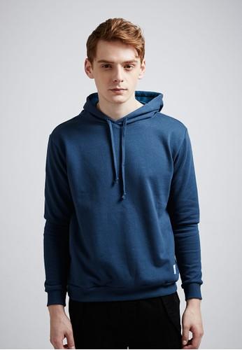 經典進化。高磅大絨。側口袋棉質連帽T-Mzalora 順豐IT-03696-丈青, 服飾, 連帽上衣