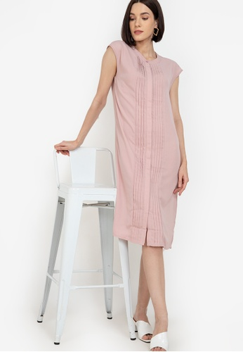 ZALORA WORK pink Pintuck Detail Dress ECA80AA6950355GS_1