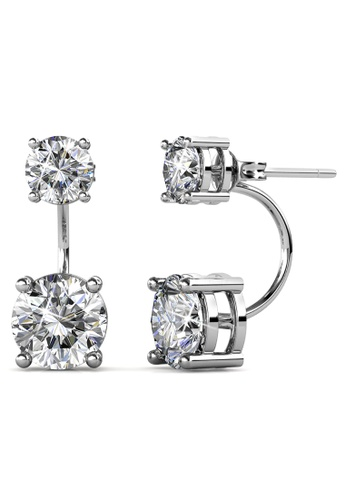 Krystal Couture gold KRYSTAL COUTURE White Gold Duo Crystals Stud Earrings Embellished with Crystals from Swarovski® ABD54ACC465597GS_1