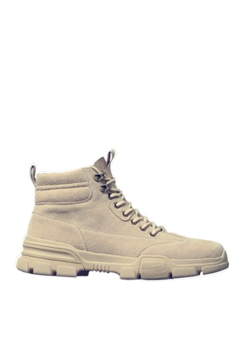 Twenty Eight Shoes beige Stylish Cow Suede Mid Boots VMB3338 461C2SHE4510C3GS_1