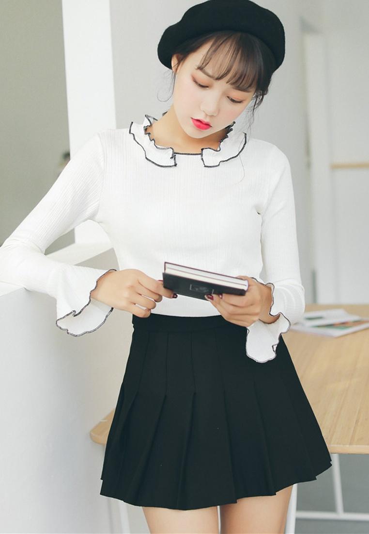 Pleated Mini Black in Shopsfashion Skirt Black 6pXqwd