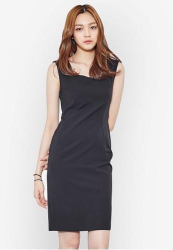 及膝無袖鉛筆連身裙,esprit台北門市 服飾, 洋裝
