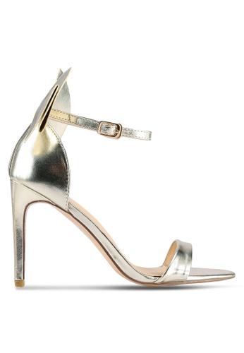 Velvet gold Back Bow Heels 492F9SHA8975A2GS_1