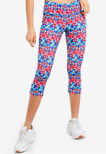 UniqTee multi Printed Yoga Pants 3CE00AA85A9E9CGS_1