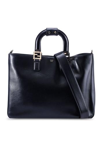Fendi black Gloria Medium Top-Handle Bag (zt) 399A1AC3A7AE1EGS_1