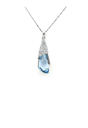 Glamorousky blue Enchanting Pendant with Silver and Blue Austrian Element Crystals 9E16EAC10EC259GS_1