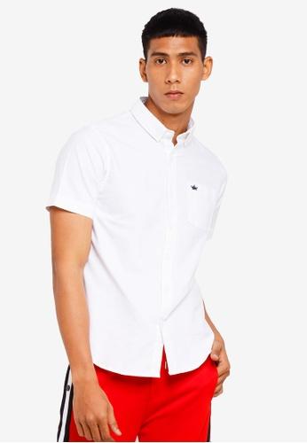 Brave Soul 白色 短袖襯衫 BBADDAA60E171DGS_1