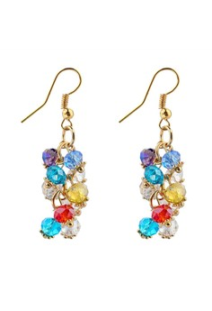 Bohemian Luxury Crystal Beads Tassel Earrings by ZUMQA