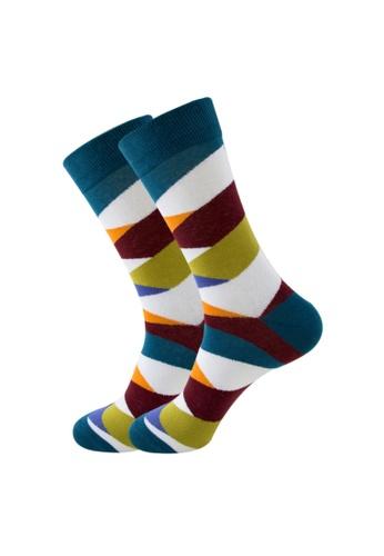 Kings Collection white Stripe Pattern Cozy Socks (EU38-EU45) (HS202230) 84C72AAB0C69A6GS_1
