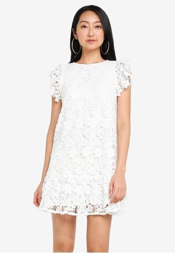 Miss Selfridge white Ivory Tiered Lace Mini Dress B059AAA3C6A9E3GS_1