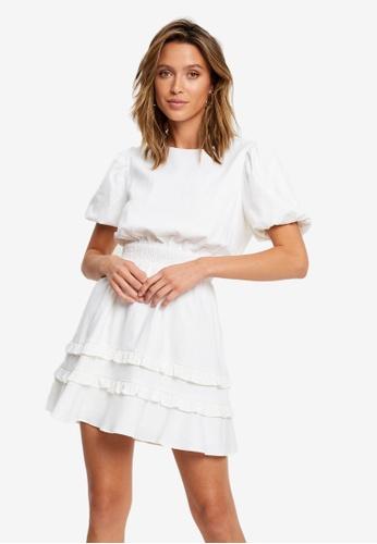 Sável white Magda Mini Dress 5875CAA04E6A30GS_1