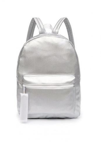 OOTD grey Water Repellent School Backpack 1F32CAC74F867CGS_1