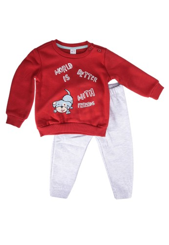 LC Waikiki multi Baby Boy's Sweatshirt and Trousers E1C8FKAE4DBF88GS_1
