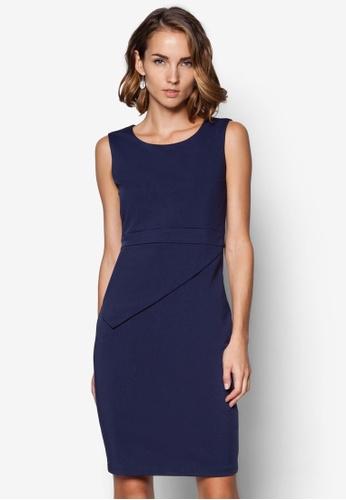 ZALORA navy Collection Layered Skirt Dress 9ABDAAA2802F71GS_1